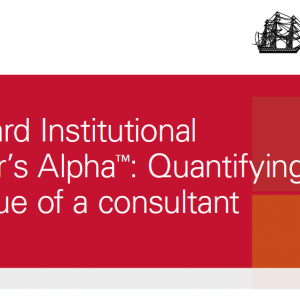 Vanguard Institutional Advisor's Alpha™: Quantifying The Value Of A Consultant